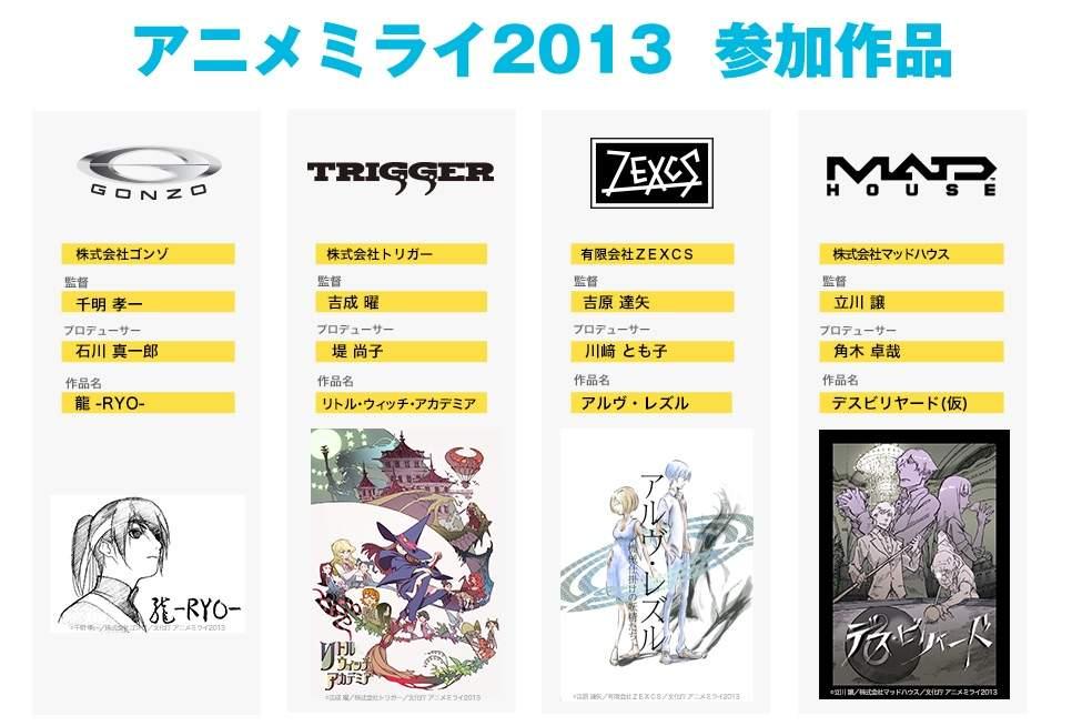Anime Mirai Line Up 2013