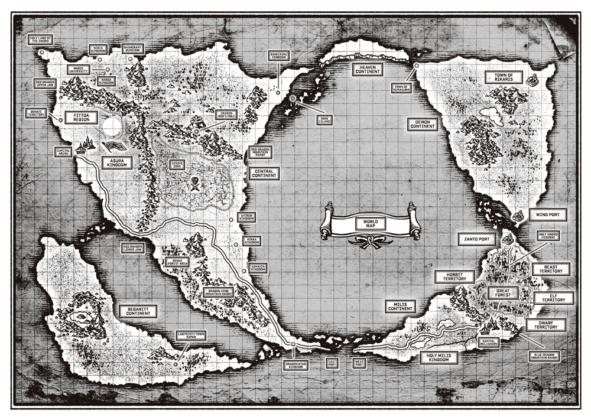 Weltkarte Mushoku Tensei